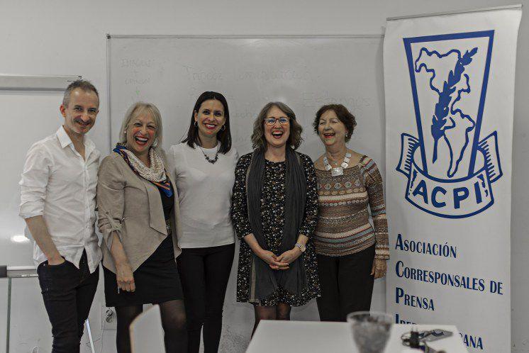 De izquierda a derecha: Ivaylo Haralampiev, Sully Fuentes, Silvia Pizzi, Ana Lucía Ortega y María Rosa Jordán