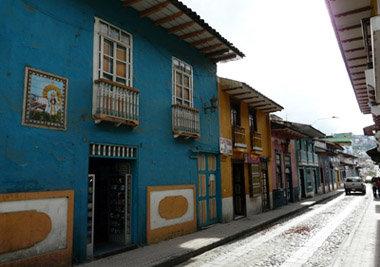 La calle Lourdes, típico paisaje de Loja