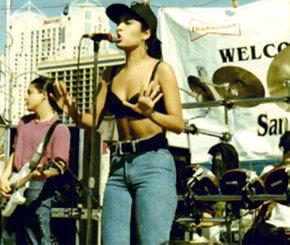 Selena, en uno de sus conciertos en San Antonio, Texas.