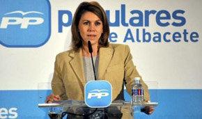 La presidenta del PP de Castilla-La Mancha y secretaria general nacional, María Dolores de Cospedal