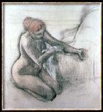 Mujer secándose después del baño, de Edgar Degas