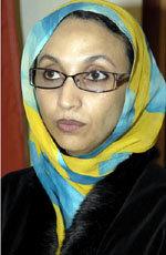 La activista  Aminatou Haidar