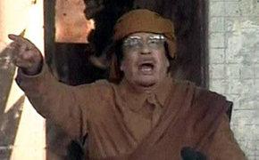 Muamar Gadafi prometió este martes morir en Libia