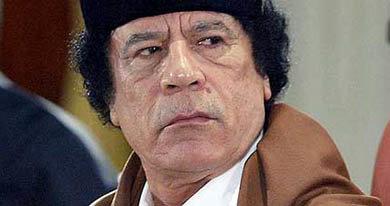 Muammar Gaddafi responsabilizó a Osama Bin Laden, por la revuelta y las protestas en su país