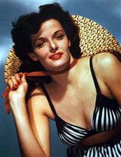 La sugerente belleza morena de jane Russell no tuvo rival en Hollywood