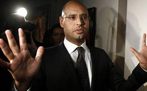 Seif el Islam Gadafi, hijo del líder libio Muamar al Gadafi.