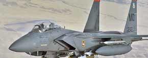 Un avión norteamericano F-15E Eagle como éste, cayó en territorio libio