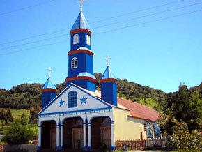 Iglesia de Chiloé, en el sur de Chile