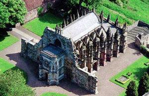 La capilla de Rosslyn, Construida a mediados del siglo XV.