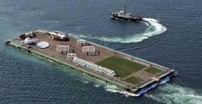 Japón utilizará isla flotante con tanques para recoger hasta 10 millones de litros de agua radiactiva