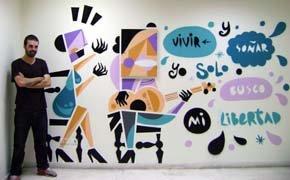 Photos of the graffiti murals drawn by the Spanish artist Rubén Sanchez in Beirut