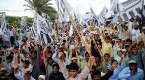 Paquistaníes protestan contra EE.UU.