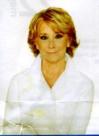 Esperanza en 2011,  trucada con Photoshop. Un timo fotográfico