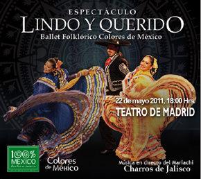 El próximo 22 de mayo, actúa en el Teatro de Madrid, el Ballet Folklórico Colores de México
