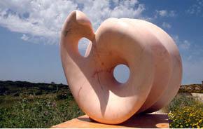 """Beatiz Cunha, escultora portuguesa, y el """"Corazón"""" de la Humanidad"""