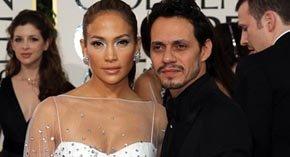 La bella JLo, junto a su todavia marido, el no tan bello Marc Anthony