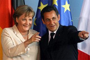 El presidente francés, Nicolas Sarkozy, y la canciller alemana, Angela Merkel