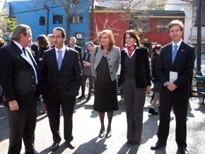 De (i) a (d): Cristián Labbé, Alcalde de Providencia, Pablo Zalaquett, Alcalde de Santiago, Sol Letelier, Alcaldesa de Recoleta, Alvaro Castilla, Director Nacional de Sernatur