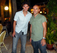 Rafa Nadal (i) y Joaquín Moreno Jr.