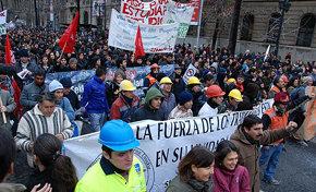 En Chile se realiza paro de 48 horas