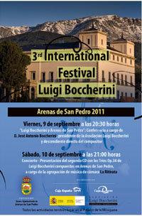 Arenas de San Pedro celebra este fin de semana el III Festival Internacional Luigi Boccherini con una conferencia y un concierto