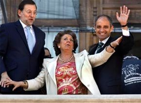 Rajoy, Barberá y Camps. Eran otro tiempos...