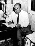 El insigne poeta y Premio Nobel de Literatura, Pablo Neruda