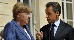 Los gobiernos alemán (Merkel) y francés (Sarkozy) quieren evitar que su banca anote pérdidas