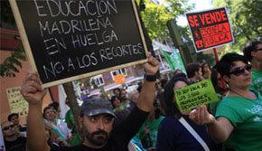 Guerra de cifras en el seguimiento de la huelga de profesores en Madrid