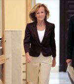 La vicepresidenta, Elena Salgado