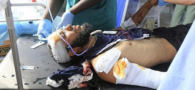 Uno de los heridos durante el último ataque en Sirte