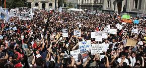 Protesta estudiantil en Chile (imagen de archivo)