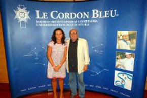 """La directora ejecutiva de Le Cordon Bleu en España,  Mª Pérez de Ayala y Quino Moreno, uno de los conductores de """"La Hora Blanca""""…"""