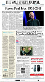 La muerte de Steve Jobs inunda las portadas de los diarios internacionales