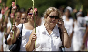 Lauran Pollán en una  manifestación (imagen de archivo)