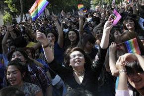Homosexuales chilenos defienden diversidad