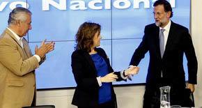 Javier Arenas, Soraya Sáenz de Santamaria y Mariano Rajoy