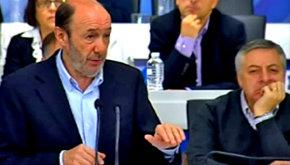 Rubalcaba y Blanco en el comité Federal del PSOE este sábado...