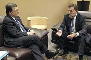 Barroso (i) se reunió con Mariano Rajoy