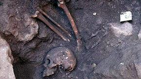 Restos prehispánicos mayas encontrados en Mérida (México)