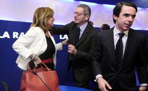 De (i) a (d), Ana Botella, alcaldesa de Madrid, Alberto Ruiz Gallardón, ex alcalde y actual Ministro de Justicia y Jose M. Aznar, ex presidente del Gobierno