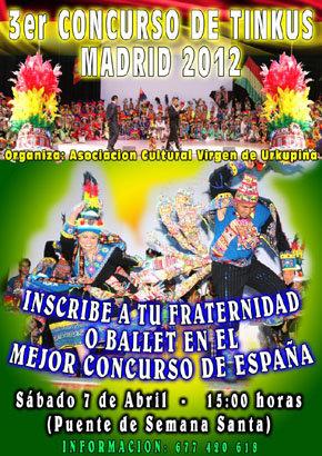 3er. Concurso de Danza Boliviana Tinkus Madrid 2012