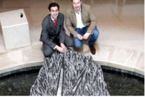 USAL exhibe el fósil de un calamar gigante de hace unos 450 millones de años procedente de Marruecos