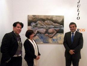 El pintor Julio Rabadán Bujalance expone su obra 'Eros y Tanatos' en el Centro Cívico de la Diputación