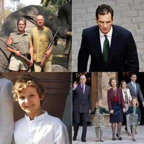 En el montaje fotográfico, la foto (de archivo) del rey en una cacería también en Africa,  corresponde al año 2006.