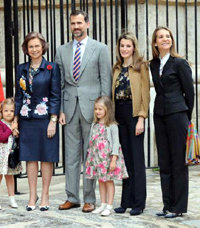 Parte de la Familia Real española