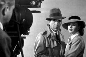 Bogart y Bergman, durante el rodaje de Casablanca.