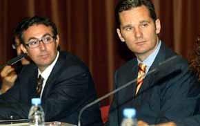 Diego Torres (i) e Iñaki Urdangarín en imagen de archivo