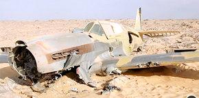 Encuentran en el desierto del Sáhara un avión de la Segunda Guerra Mundial estrellado hace 70 años