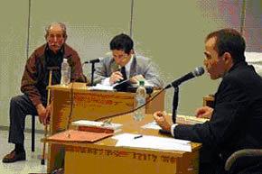Justo José Tobares (extremo izq. en la imagen), en un momento de su juicio